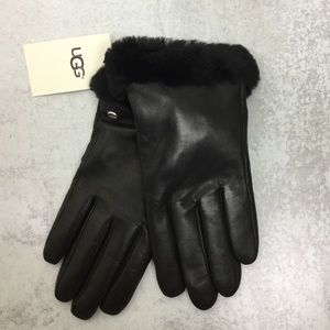 NWT Ugg Shearling Shorty leather gloves size L